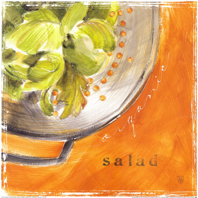 Organic Salad Poster by Lauren Hamilton