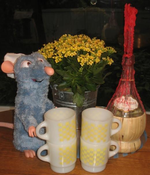 Anchor-Hocking Yellow Mugs