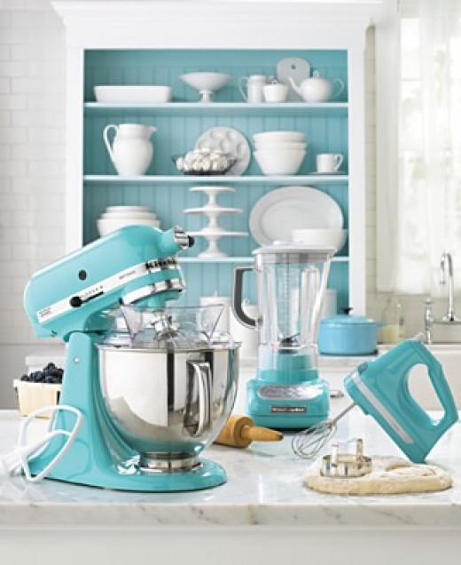 kitchenaid hand 7 speed mixer from martha stewart s blue