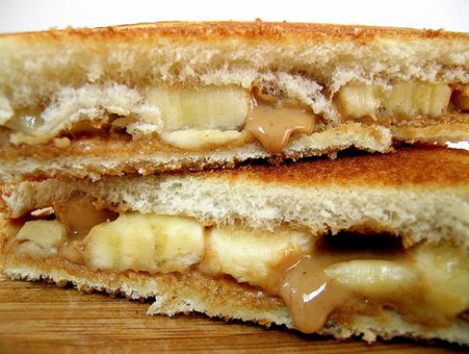 Basic Fried Peanut Butter and Banana Sandwich Looks delicious! Photo by Jamieanne on Flickr.