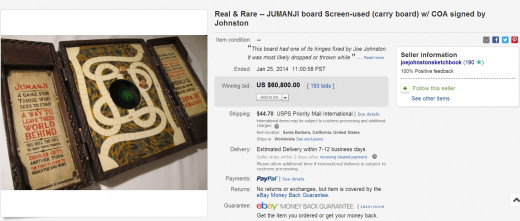 Jumanji Board Game Prop