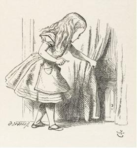 John Tenniel Alice in Wonderland with Curtain