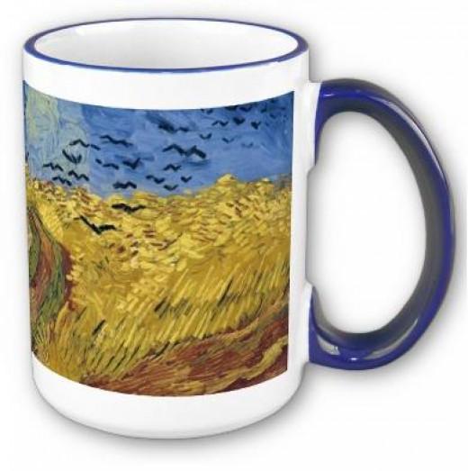 Wheatfield With Crows Mug