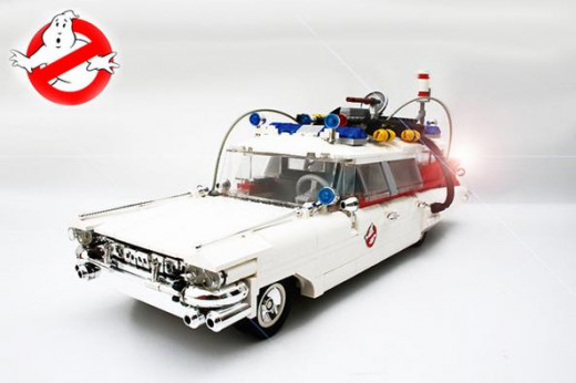 Ghostbusters Car Made From Lego