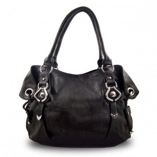 Kathy Van Zeeland Black Handbag