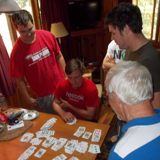 A game of cards before dinner--photo by LynnKK