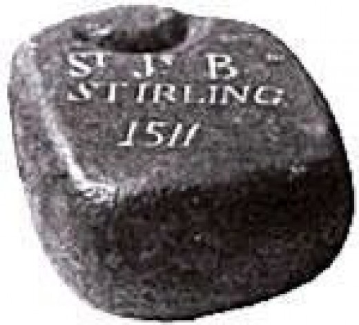 Sterling Stone dated 1511, the earliest curling rock known