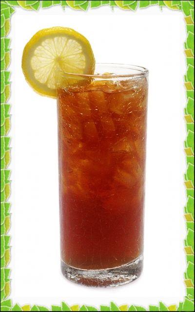 herbal iced tea with lemon