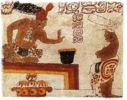 Mayan citizen being denied the taste of chocolate