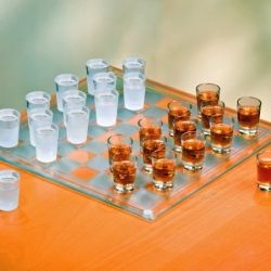 Shot Glass Checkers Set