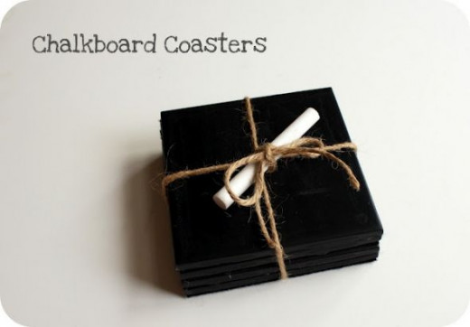 Follow the link to make this chalkboard coasters