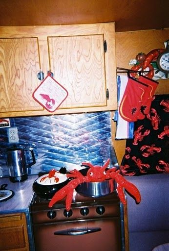 Interior of Dalton with lobster theme