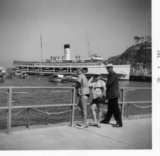 Big White Steamship, Catalina, Island
