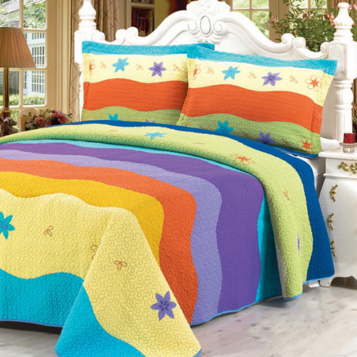 Colorful Ocean 3PC Quilt Set