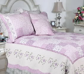 Love of Lilac Patchwork Quilt Set