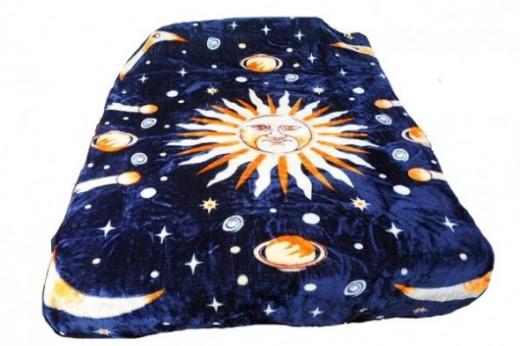 Dream of the Moon Plush Raschel Blanket