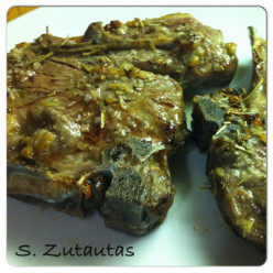 Lamb Shoulder Chops with Garlic and Rosemary