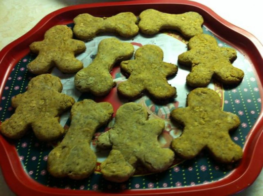 Banana Peanut Butter Dog Cookies