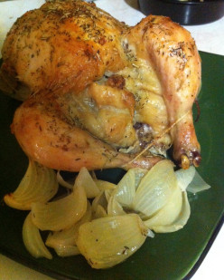 Roast Chicken with Garlic Rosemary and Thyme