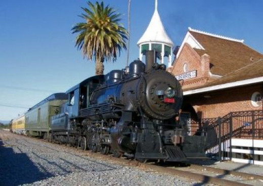 The newly remodeld Perris Depot where you can catch a train for special events at the museum