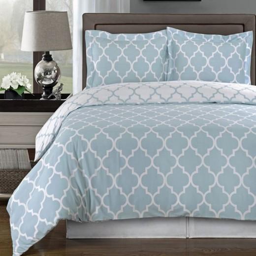 Meridian Blue Modern Duvet Cover