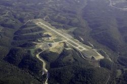 Aerial Photo of Branson Airport near Branson Missouri from about 7000 ft msl (about 5700 ft over ground)