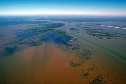 The Delta of the Atchafalaya River looking northwest