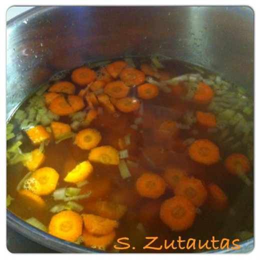 Add the carrots to the pot