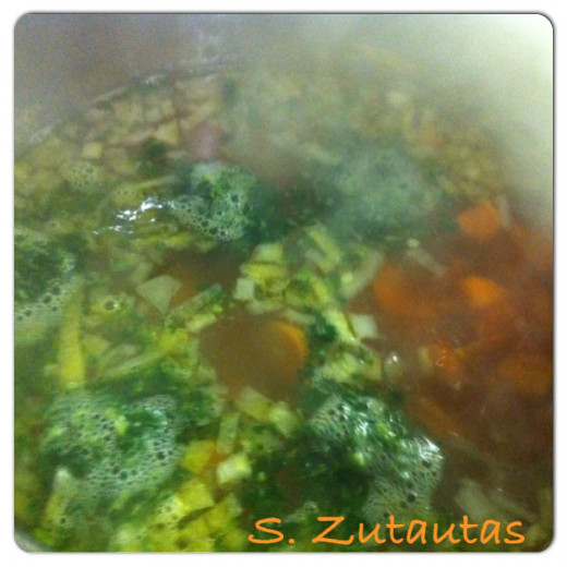 Add the spinach to the pot