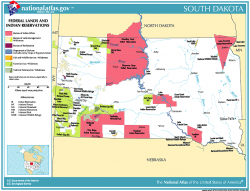 Map of key geographic sites in South Dakota