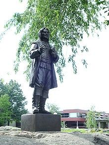Roger William Statue at Roger Williams University