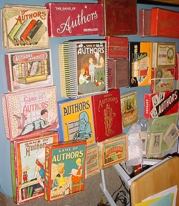 A display of Authors Vintage Card Games