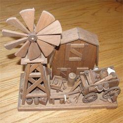 Windmill wood art