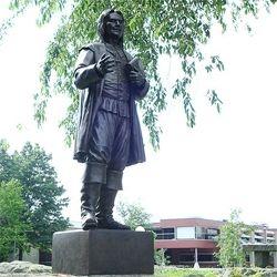 Roger William Statue at Roger Williams University