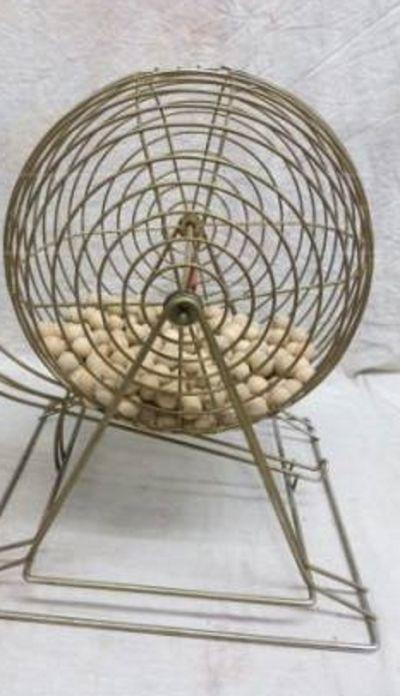 An Old Bingo Ball Mixer