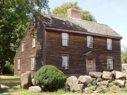 John Adams birthplace on the farm in Quincy, Massachusetts