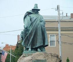 Statue of Roger Conant, founder of Salem, Massachusetts