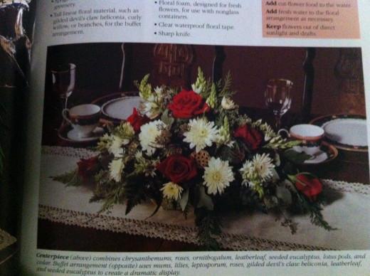 A Centerpiece or buffet arrangement