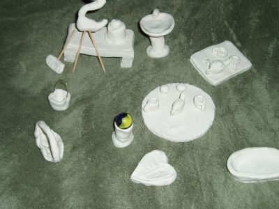 A Sample of Some of the Things I Made,  I plan to paint them.