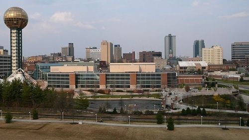 Eastward view of the City of Knoxville downtown.