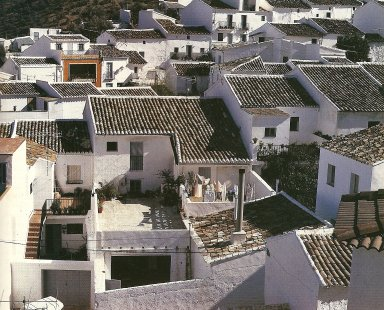 Rooftops of Sahara de la Sierra in Cadiz.