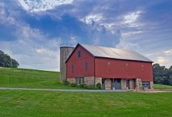 An Amish Barn in Pennsylvania