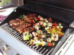Kabobs for Father's Day Summer Menu