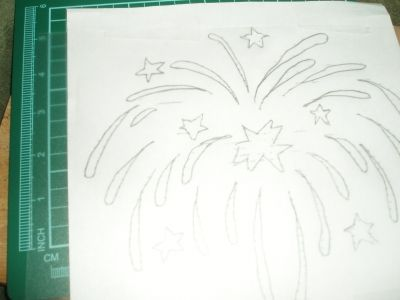 First layer stencil drawing