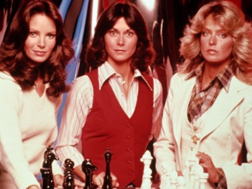 hair styles and the Charlie s Angels back in the 70's