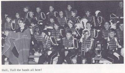 Marching Band at a Football Game