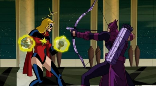 The Avengers-Ms Marvel-Hawkeye