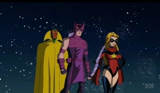 The Avengers-Vision-Hawkeye-Ms Marvel