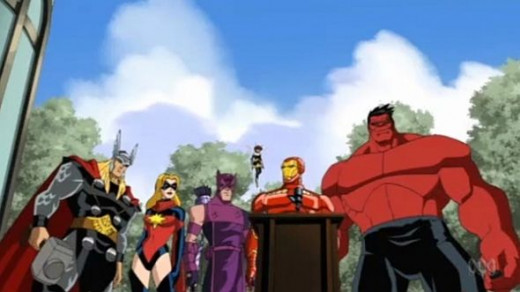 The Avengers-Red Hulk