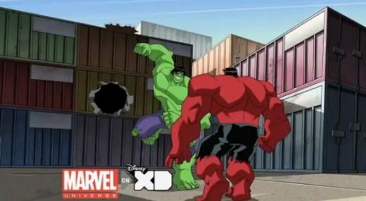 Hulk and Red Hulk